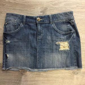ELLE Denim Mini Skirt